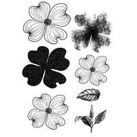 Transparent stamp, flowers