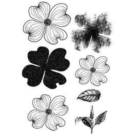 CREATIVE EXPRESSIONS und COUTURE CREATIONS Gennemsigtige frimærker, blomster