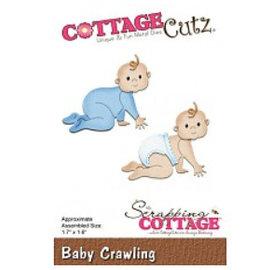 Cottage Cutz Corte y estampado: Bebé gateando
