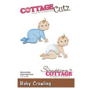 Cottage Cutz Snij- en embossing Sjabloon: baby kruipen