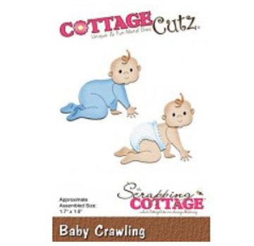 Cottage Cutz Skæring og prægning: Baby crawling