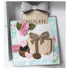 Marianne Design corte y estampado: coleccionables, coleccionables - caja de chocolates + motivo de estampilla