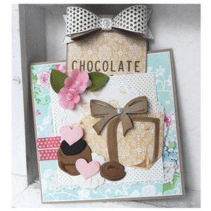 Marianne Design cutting and embossing: Collectables, Collectables - Box of Chocolates + stamp motif