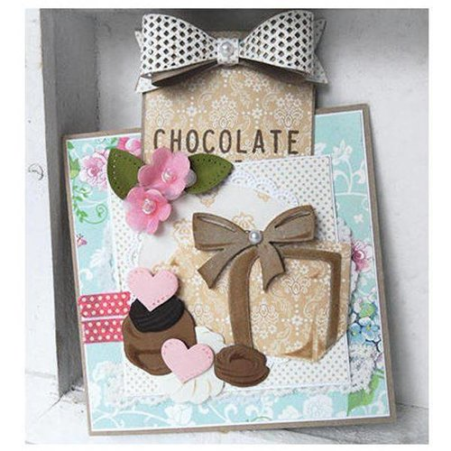 Marianne Design 10% bis 14.05.2018! Stanz- und Prägeschablonen, Collectables - Box of Chocolates + stempelmotiv
