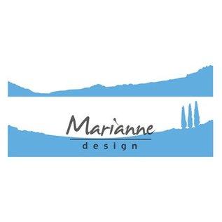 Marianne Design snij en embossing Sjabblonen: Horizon: Cipressen