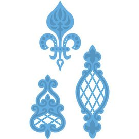 Marianne Design Stanzschablonen: Anja's Vintage 3 ornaments, LR0273