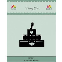 cutting and embossing templates: wedding Cake