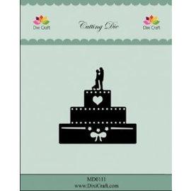 Die'sire Stanzschablonen: Hochzeitstorte, 6cm x 6cm