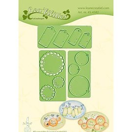 Leane Creatief - Lea'bilities und By Lene Plantillas de corte y estampado: Little Banners & Labels