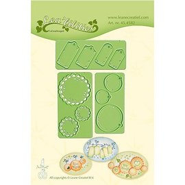 Leane Creatief - Lea'bilities und By Lene cutting and embossing templates: Little Banners & Labels