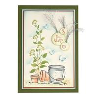 Transparent stamp, Flower swirls
