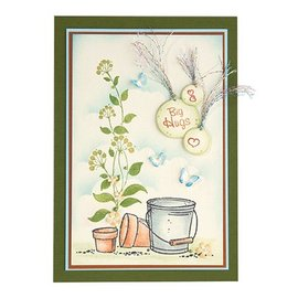 Leane Creatief - Lea'bilities und By Lene Sello transparente, remolinos de flores