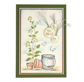 Leane Creatief - Lea'bilities und By Lene Transparent Stempel, Flower swirls