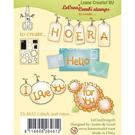 Leane Creatief - Lea'bilities und By Lene Transparante stempel, Labels and more
