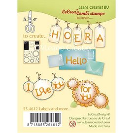 Leane Creatief - Lea'bilities und By Lene Transparent stamp, Labels and more