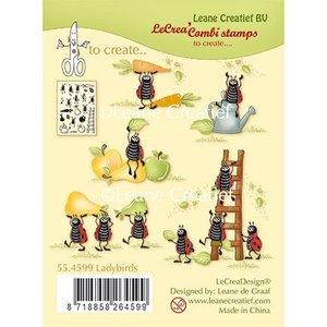 Leane Creatief - Lea'bilities und By Lene Transparent frimærke, Ladybugs