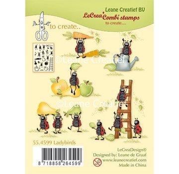 Leane Creatief - Lea'bilities und By Lene Transparante stempel, lieveheersbeestjes