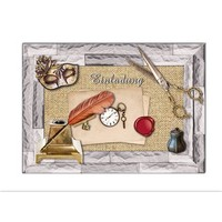 Die cut sheet with accessories made of card cardboard, A4 format