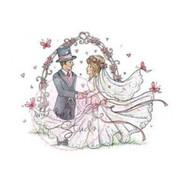 Wild Rose Studio`s Timbro trasparente, matrimonio