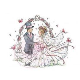 Wild Rose Studio`s Transparante stempel, Huwelijkspaar