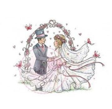 Wild Rose Studio`s Gennemsigtigt frimærke, bryllup