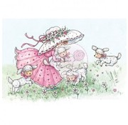 Wild Rose Studio`s Transparent stamp, Annabelle with lambs