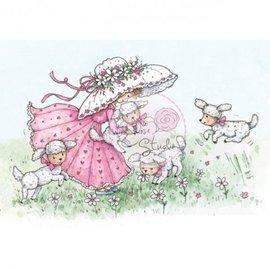 Wild Rose Studio`s Timbro trasparente, Annabelle con agnelli