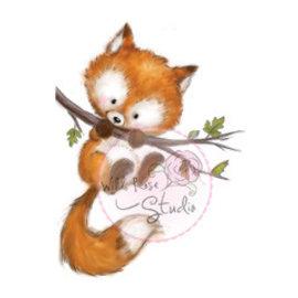 Wild Rose Studio`s Transparante stempel, Fox on Branch