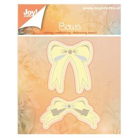 Joy!Crafts / Jeanine´s Art, Hobby Solutions Dies /  Snij en embossing Sjablonen: 2 Strikjes