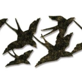 Sizzix Ponsen jig, Tim Holtz, verbouwingen Collection, vogelvlucht