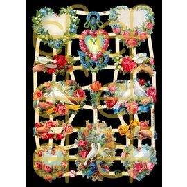 Bilder, 3D Bilder und ausgestanzte Teile usw... Scrap lotes, flores