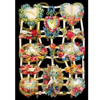 Bilder, 3D Bilder und ausgestanzte Teile usw... Skrot masser, blomster