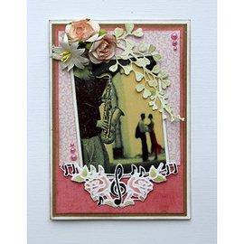 Joy!Crafts / Jeanine´s Art, Hobby Solutions Dies /  Plantillas de corte y estampado: partituras y rosas