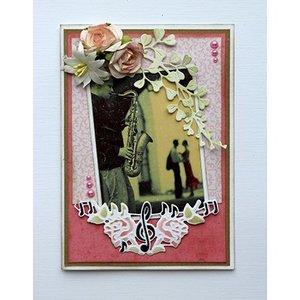 Joy!Crafts / Jeanine´s Art, Hobby Solutions Dies /  Snij en Embossing Sjablonen: muziek en rozen