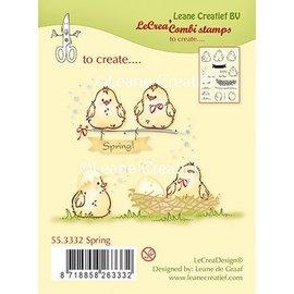 Leane Creatief - Lea'bilities und By Lene Timbre transparent, poussins, oeufs et nid