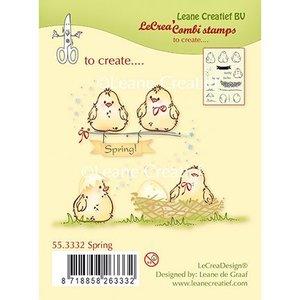 Leane Creatief - Lea'bilities und By Lene Transparante stempel, Kuikens, eieren en nest