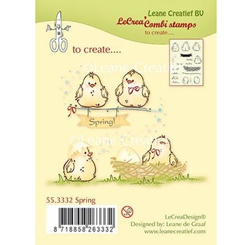 Leane Creatief - Lea'bilities und By Lene Gennemsigtigt frimærke, kyllinger, æg og rede