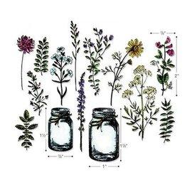 Sizzix Skæring og prægning stencils med stempelmotiver: Tim Holtz - Framelits, Flowers