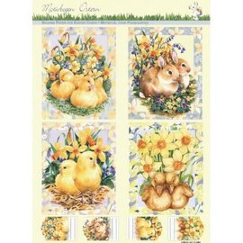 Stamped sheets with background sheet: Easter
