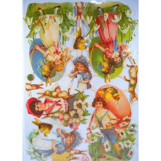 Bilder, 3D Bilder und ausgestanzte Teile usw... Album-souvenir avec Pâques et des motifs de printemps