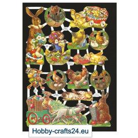 Bilder, 3D Bilder und ausgestanzte Teile usw... Scraps med påske motiver