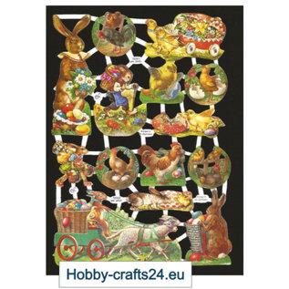 Bilder, 3D Bilder und ausgestanzte Teile usw... Glanzbilder mit Ostermotiven