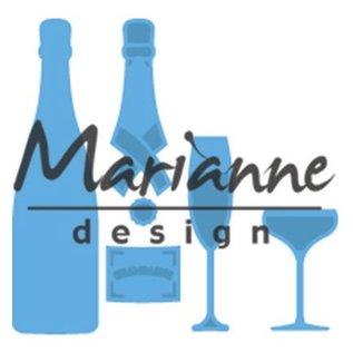 Marianne Design snij en embossing Sjabblonen: Champagne