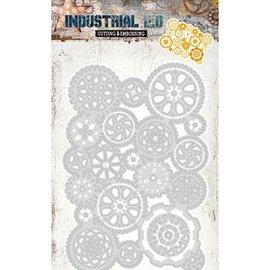 Studio Light Skæring og prægning Stencils: Industrial