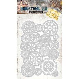 Studio Light Découpe et gaufrage Stencils: Industriel