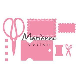 Marianne Design Snij- en embossing Sjablonen: Eline's craft dates