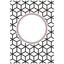 Nellie Snellen skæring og prægning Stencils: Round-diamonds