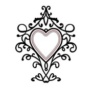 Nellie Snellen cutting and embossing Stencils: Heart-swirls