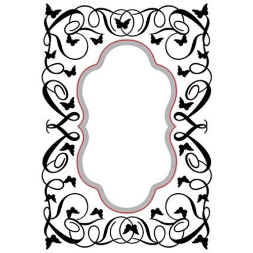 Nellie Snellen cutting and embossing Stencils: Oval-butterfly-swirls