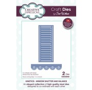 CREATIVE EXPRESSIONS und COUTURE CREATIONS cutting and embossing Stencils: window shutter & valance - kinetics - ced22002